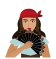 woman dancer flamenco character vector image