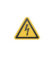 yellow sign danger high voltage symbol stock vector image vector image