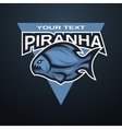 Piranha emblem logo for a sports team vector image