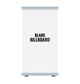 Single Blank Advertising Billboard Isolated On vector image