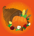 thanksgiving card with decorative pumpkin vector image
