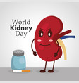 world kidney day poster prevention health care vector image