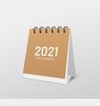 2021 calendar brown paper template design vector image