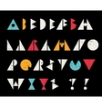 Abstract alphabet letters in retro style vector image