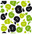 apple fruit seamless pattern for fabric background vector image vector image