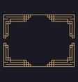 art deco frame vintage linear border design vector image vector image