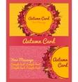 Autumn card business card invitation flyer vector image vector image