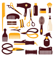 babrber haircutting tool vector image