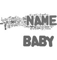 baby name text word cloud concept vector image vector image