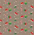 background with festive christmas decorations vector image vector image