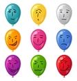 Balloon set smilies vector image