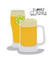 best drinks in glass drawn vector image