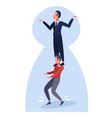 businessman holding on a shoulders colleague vector image vector image