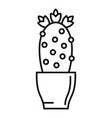 cactus flower pot icon outline style vector image vector image
