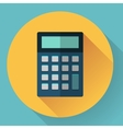 calculator icon with long shadow vector image