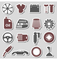 car parts store simple stickers set eps10 vector image vector image