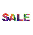 Color Sale Text vector image