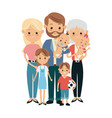 cute people family members together happiness vector image vector image