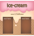 cute pink and orange ice cream with cookies and vector image vector image