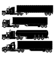 Detailed trucks silhouettes set vector | Price: 1 Credit (USD $1)