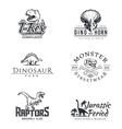 Dino logo set Dinosaur logotype Raptor sport vector image vector image