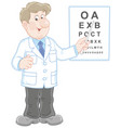 doctor oculist testing sight vector image
