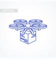 drone icon delivery service remote air drone vector image