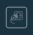 electric socket icon line symbol premium quality vector image vector image