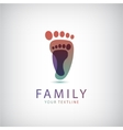 family 2 footprints icon vector image vector image