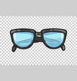 fashionable black eyeglasses frame vector image vector image