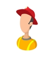 Fireman cartoon icon vector image vector image