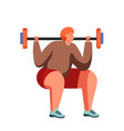fitness and gym people flat isolated vector image