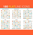 flat thin line icons creative vector image vector image