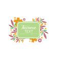 flourishes frame original design elegant floral vector image vector image