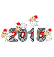 Funny Christmas cartoon sheep vector image vector image