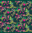 fusion exotic jungle juicy greens tropical palm vector image