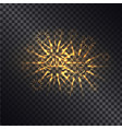 glowing fiery sparks on transparent background vector image vector image