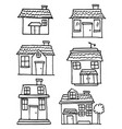 hand draw of house set various vector image vector image