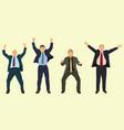 happy businessmen vector image vector image