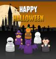 happy halloween set vector image vector image