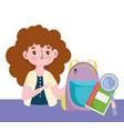 happy teachers day teacher backpack book vector image vector image