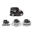 hot rod car logo template design element vintage vector image