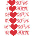i love shopping labels set vector image vector image