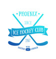 ice hockey club t-shirt design print vector image