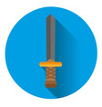 icon is a sword on a blue background vector image