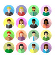 icon set diverse business people