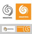 Industrial logo design concept vector image