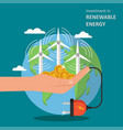 investment in renewable energy concept flat vector image