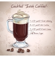 Irish cream coffee vector image