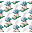 isometric factory building seamless pattern vector image vector image